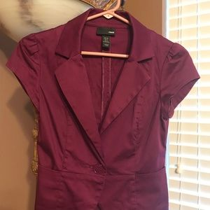 Beautiful H & M Purple/Burgandy Blazer